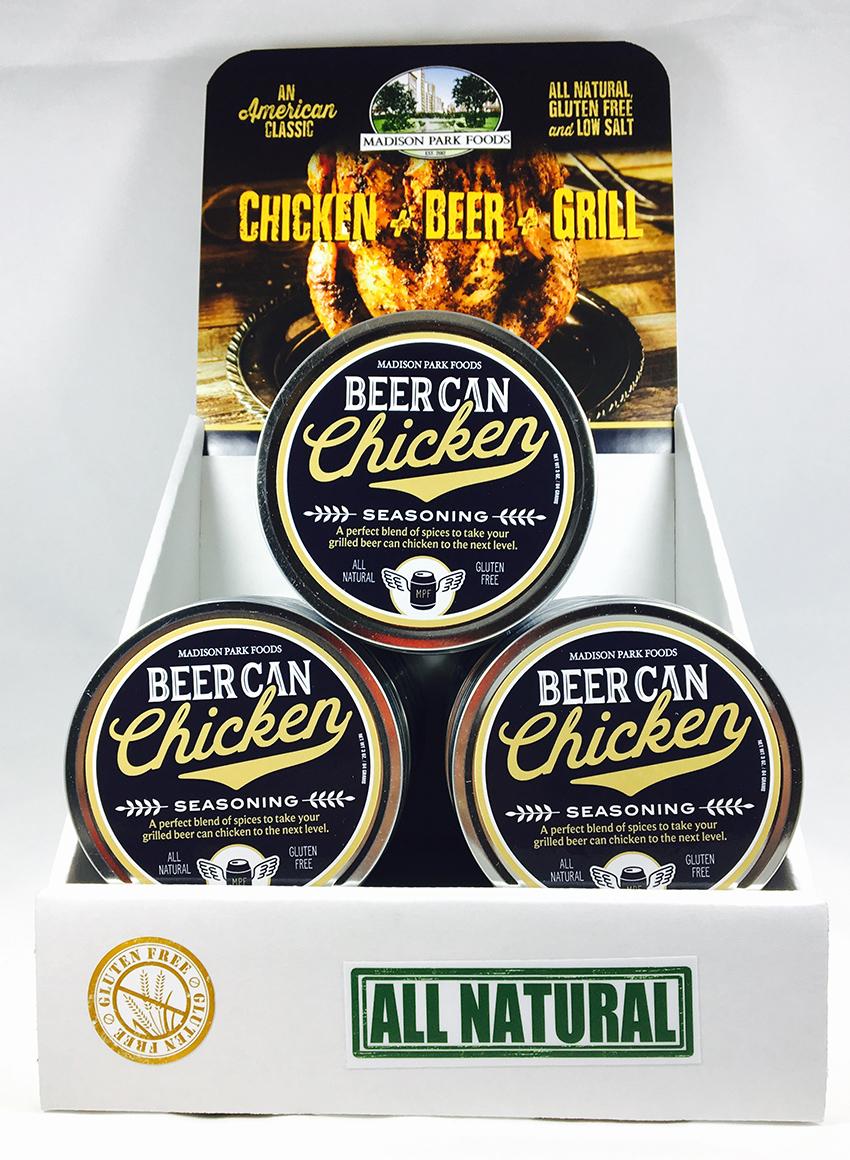 Beer Can Chicken Shelf Display for website