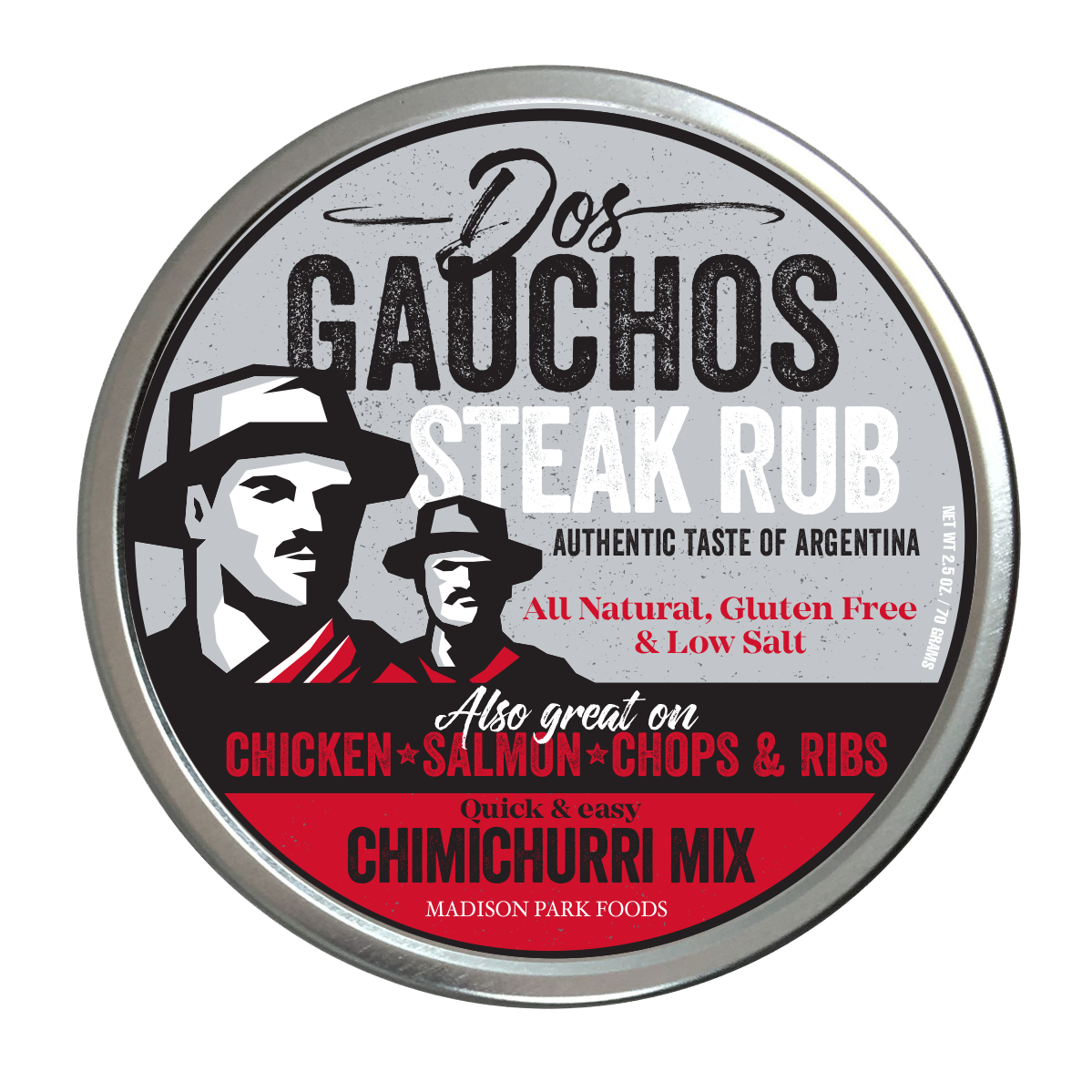 Dos Gauchos Steak Rub & Chimichurri Rojo MixAuthentic taste of Argentina