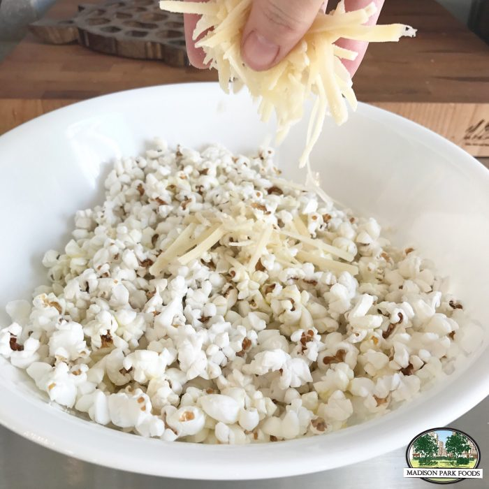 popcorn and parmesan